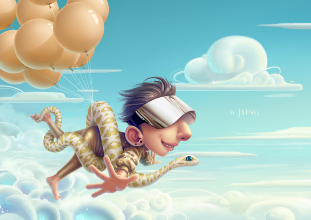 640x452_21016_Snake_in_the_sky_2d_cartoon_boy_snake_picture_image_digital_art.jpg