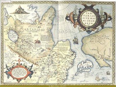 Карта Тартарии (Сибири) Абрахама Ортелиуса 1570г.jpg