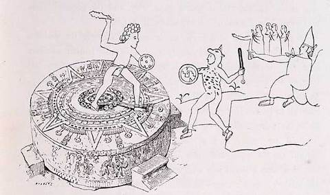 The Temalacati or Gladiatorial Stone from the Codex Ramirez.jpg